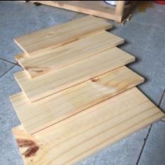 Bó 5 tấm gỗ thông mới đẹp dài 30cm, rộng 12.5cm, dày 1cm bào láng đẹp 4 mặt thích hợp trang trí, làm kệ, DIY