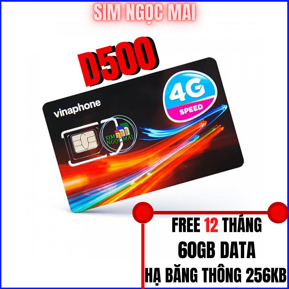 Sim 4G Vina D500 Trọn Gói 1 Năm (5GB/Tháng)