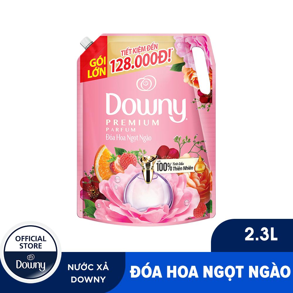 [Tặng Cặp Ly Bia 150k Đơn 199k] Nước xả vải Downy Đóa hoa thơm ngọt ngào túi 2.3L [20-28.01]