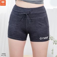 Gymme quần short thể thao dây rút tập gym yoga – 17092, chất thun co giãn 4 chiều và thấm hút mồ hôi tốt giúp người mặc luôn thoải mái, dễ chịu