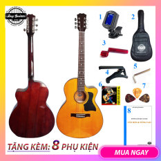 Đàn guitar acoustic có ty DT70 Full size guitar Duy Guitar Store đàn ghitar giá rẻ chất lượng âm thanh tốt , action êm tay cho người mới tập cần đàn thẳng Tặng kèm 8 phụ kiện đàn ghitar