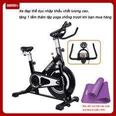OneTwoFit Xe đạp tập thể dục Xe đạp trong nhà với Đệm ngồi thoải mái và có thể điều chỉnh OT125