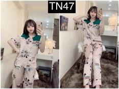 Đồ Bộ Pizama Mặc Nhà Satin Cao Cấp – Set Bộ Pijama Ngủ Nữ Form Quảng Châu TNQD Hàng Thiết Kế Siêu Sang- Kèm Hình Thật Shop Tự Chụp