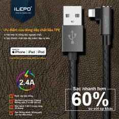 Cáp Sạc Nhanh Iphone 2.4A (Powerline) 1m2 Dành Cho Game Thủ Với Dây Bọc nhựa TPE cao cấp iLEPO iL08 Iphone