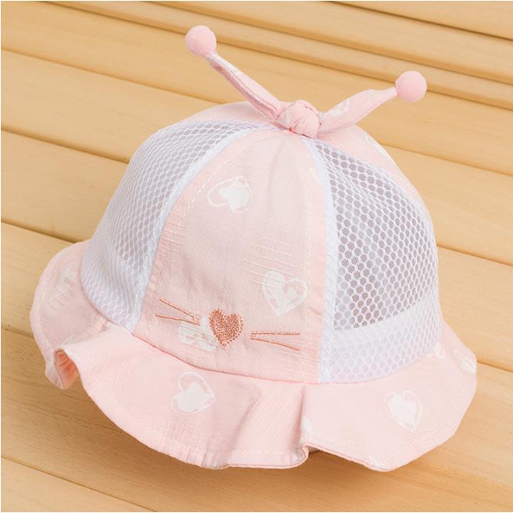 Nón tai bèo bé gái. Nón lưới cho bé gái. Mũ nón mùa hè cho bé gái. Mũ nón cho bé gái 6-24 tháng. My little boss