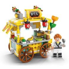 Bộ đồ chơi ô tô lắp ráp mô hình nhà bếp bằng tay
