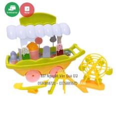 Đồ chơi xe đẩy kem và xích đu, cầu trượt, công viên dành cho bé
