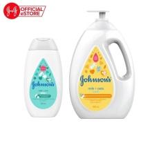 Bộ sữa tắm sữa và yến mạch 1000ml & sữa dưỡng ẩm sữa và gạo Johnson's 200ml – 540018224