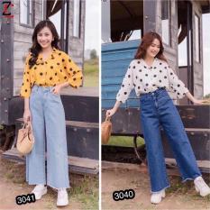 Quần Jeans Nữ Ống Rộng Thời Trang