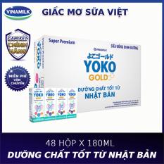 [TẶNG THÚ BÔNG VOI XANH HOẶC GỐI ÔM YOKO]-Thùng 48 hộp sữa bột pha sẵn Yoko 180ml-Mới