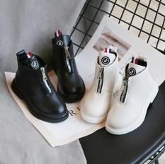 Giày trẻ em boot cao cổ cho bé gái da mềm đế êm phong cách Hàn Quốc sang chảnh