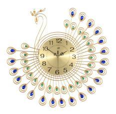 Đồng hồ trang trí chim công cách điệu xòe cánh xanh JT1381MB