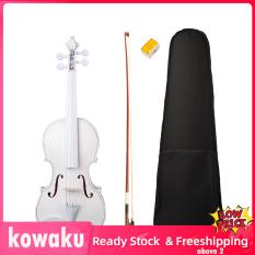 Hàng Có Sẵn Kowaku 4/4 Cây Phong Gỗ Đàn Violin Trắng Mộc Có Vỏ Nơ Nhựa Thông Dành Cho Người Mới Bắt Đầu