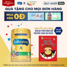 Sữa bột Enfagrow A+ 4 cho bé trên 2 tuổi 830g + Tặng 1 Sách truyện kể trước khi đi ngủ (Bữa tiệc của sâu răng)