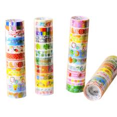 Set 10 cuộn băng keo trang trí đủ họa tiết hoạt hình nhiều màu sắc đáng yêu Baby-S – SH023