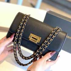 Túi xách đeo chéo nữ khóa vuông gập thời trang