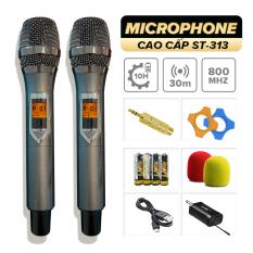 Micro không dây C.O.K ST-313 (2 Micro), Micro Karaoke phù hợp với mọi loa kéo & dàn âm ly, Jack 6.5, bắt âm tốt, phụ kiện đầy đủ – Hàng mới 100% chính hãng bảo hành 6 tháng