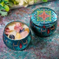 Nến thơm hoa khô thiên nhiên-Ly nến thơm-Nến thơm cao cấp bằng sáp