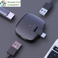 Hub Chuyển Đổi USB TYPE C Ra 3 Cổng USB Hoco HB11 cho Laptop Điện Thoại – BH 1 năm