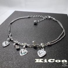 Lắc chân nữ cao cấp trái tim nhỏ xinh xắn phong cách Hàn Quốc KiCooShop – KC8095