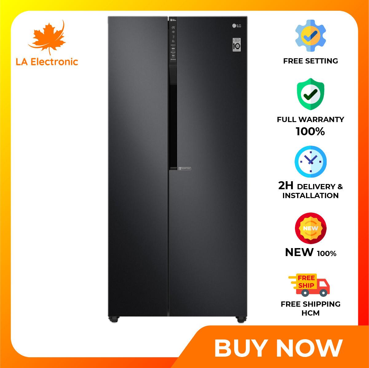 [GIAO HÀNG 2 – 15 NGÀY, TRỄ NHẤT 30.08] Trả Góp 0% – Tủ Lạnh LG Inverter 613 lít GR-B247WB Mới 2020 – Miễn phí vận chuyển HCM