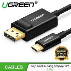 Cáp chuyển đổi USB type C sang DisplayPort độ phân giải 4k 3840x2160x30Hz dài 1.5m UGREEN MM139