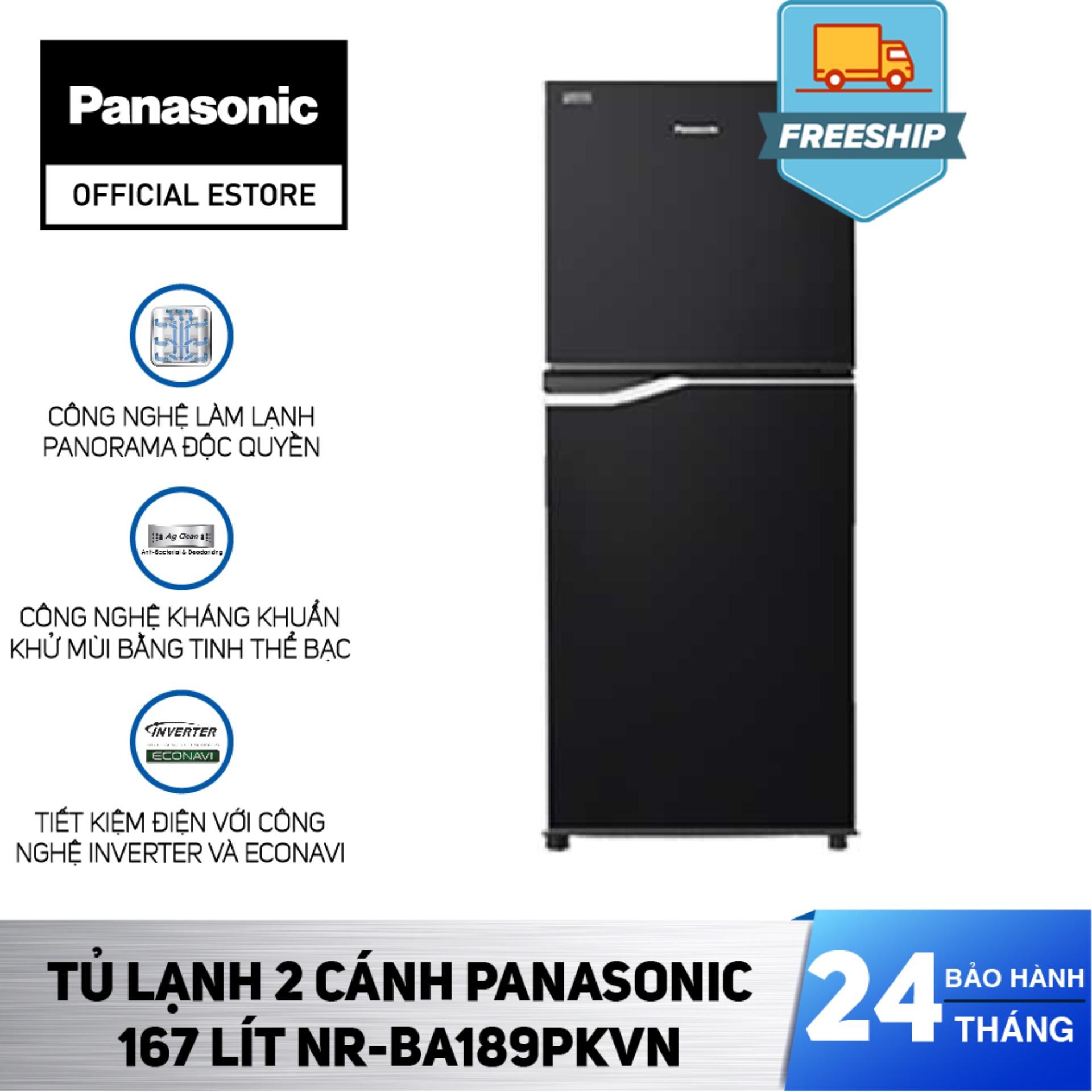 [Chỉ Giao HCM] Tủ Lạnh 2 Cánh Panasonic 167 Lít NR-BA189PKVN Bảo Hành 2 Năm Hàng Chính Hãng