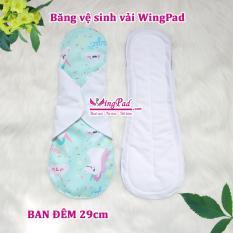 Combo 2 miếng băng vệ sinh vải WingPad ban Đêm 29cm màu ngẫu nhiên