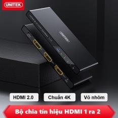 HDMI Splitter 1 in 2 out Unitek 118A – Bộ Chia HDMI 1 ra 2 cao cấp UNITEK V118A hỗ trợ độ phân giải 4K – Bộ chia HDMI Unitek 1 vào 2 ra hỗ trợ 4k V118A