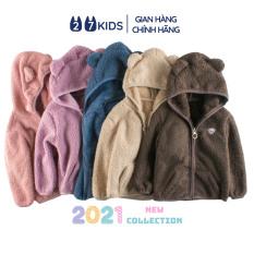 Áo khoác lông cừu cho bé trai bé gái 27Kids áo ấm mùa đông có mũ cho trẻ 2-8 tuổi C2A02