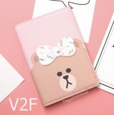 Ví đựng Hộ Chiếu Passport Cover Kakao Friend Gấu Thỏ Vịt Line V2