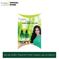 Bộ sản phẩm Travel Kit Fresh Organic gội xả 6g x 4 túi