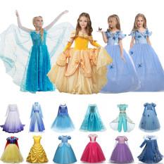 Váy dài công chúa Elsa trong phim Frozen dành cho bé gái 4-10 tuổi mặc để hóa trang trong bữa tiệc sinh nhật hoặc năm mới NNJXD – INTL
