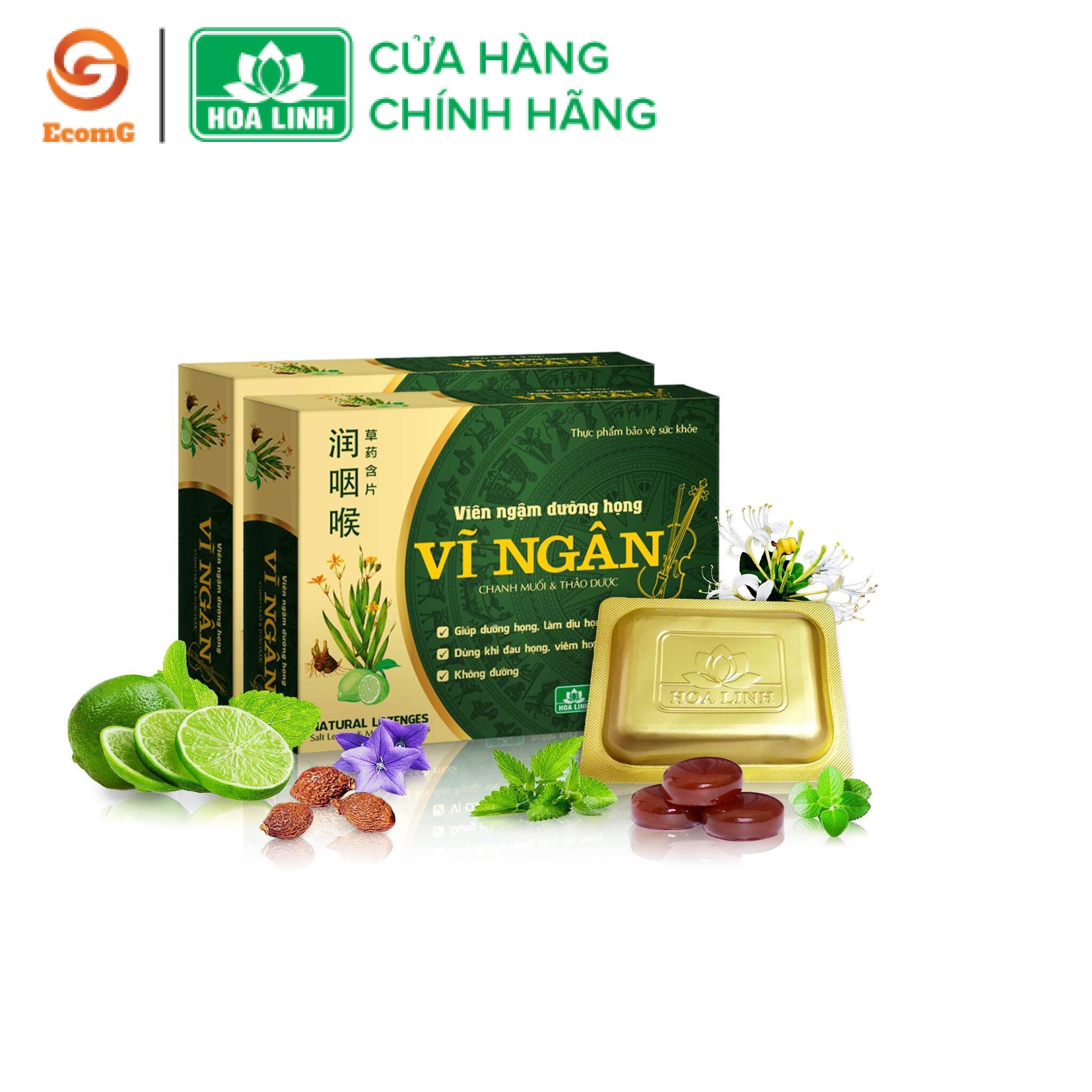 Viên ngậm dưỡng họng, thảo dược, tiêu viêm Vĩ Ngân - Hộp 10 viên - VN1-03