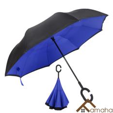 Ô dù ngược che nắng, che mưa thông minh thiết kế kiểu Nhật, 2 lớp dày dặn, cỡ lớn chuyên dùng cho ô tô