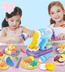 Bộ đồ chơi đất sét máy làm mì và thức ăn hình công chúa Elsa và Anna (Frozen) siêu cute cho bé gái – 90NDS2621 (35x25x8.5cm)