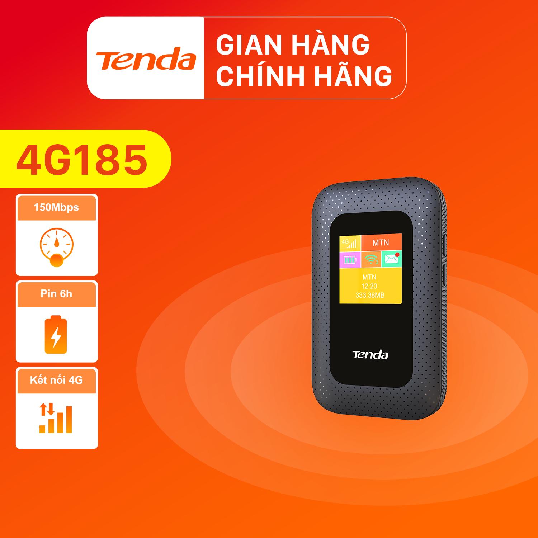 [Hàng mới về]Bộ phát Wifi di động Tenda 4G LTE 4G185 – Hãng phân phối chính thức