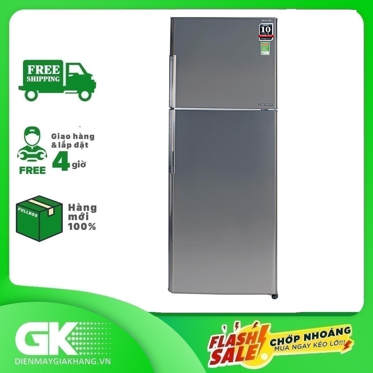 TRẢ GÓP 0% – Tủ lạnh Sharp Inverter 342 lít SJ-X346E-SL- Bảo hành 12 tháng