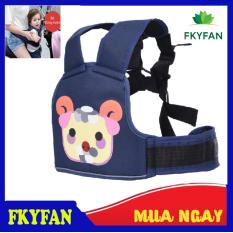 Đai đi xe máy an toàn cho bé Dây đai bằng chất liệu vải dù được thiết kế tiện lợi