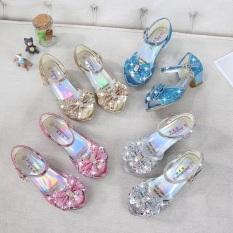 Giày công chúa elsa cao gót cho bé gái