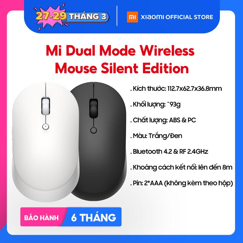 [XIAOMI OFFICIAL] Chuột máy tính không dây Xiaomi Mi Dual Mode Wireless Mouse Silent Edition – Bluetooth 4.2 & RF 2.4GHz, Không tiếng ồn – Bảo hành chính hãng 6 tháng