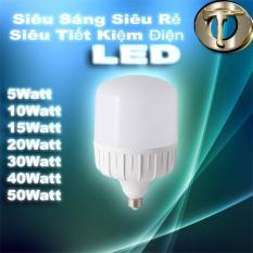 Bóng Đèn Led Super Sáng Super Tiết Kiệm Điện-Đuôi Vặn (5-50W tuỳ chọn) [Bảo hành 12 tháng 1 đổi 1]