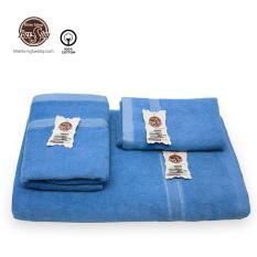 [ Quà Tặng 20-11 ] Bộ 3 Khăn Tắm Cao cấp LuxStay gồm 1 Khăn tắm lớn 70*140cm, 1 Khăn quấn đầu 35*80cm, 1 Khăn mặt 30*50cm, chất liệu 100% cotton