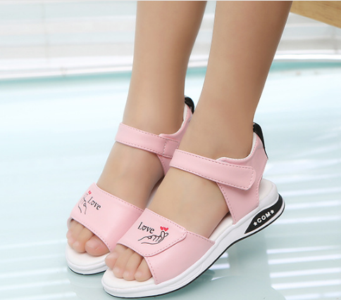 Dép sandal nữ quai quang, Giày sandal nữ đi học cho bé Dép sandal học sinh kiểu dáng thời trang êm chân phong cách Hàn Quốc