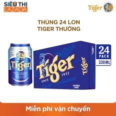 [Siêu thị Lazada] – Thùng 24 lon Tiger thường – 12,875đ/lon