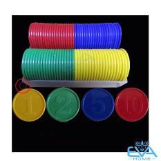 Bộ Đồ Chơi 80 Đồng Xu Nhựa Chip Poker