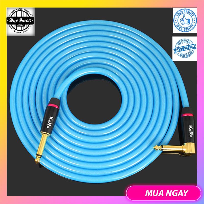 KGR professional guitar cable 6M màu đen – Dây tín hiệu kết nối guitar và ampli dài 6m – Dây Jack kết nối Guitar Bass Organ Trống Nhạc cụ + Duy Guitar Store