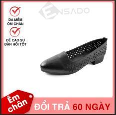 Giày Cao Gót Nữ Đế Cao 3cm Da Mềm Dáng Xinh Evelynv 3P3419 (Đen)