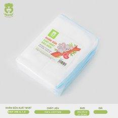 Khăn sữa xuất nhật siêu mềm Mipbi 100% cotton tự nhiên (Gói 10 chiếc)