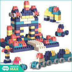 (QUÀ CHO BÉ)Bộ xếp hình 520 chi tiết cho bé -Các mảnh ghép với nhiều kích thước khác nhau giúp bé thoải mái tư duy sáng tạo Đồ chơi phát triển trí tuệ trẻ.